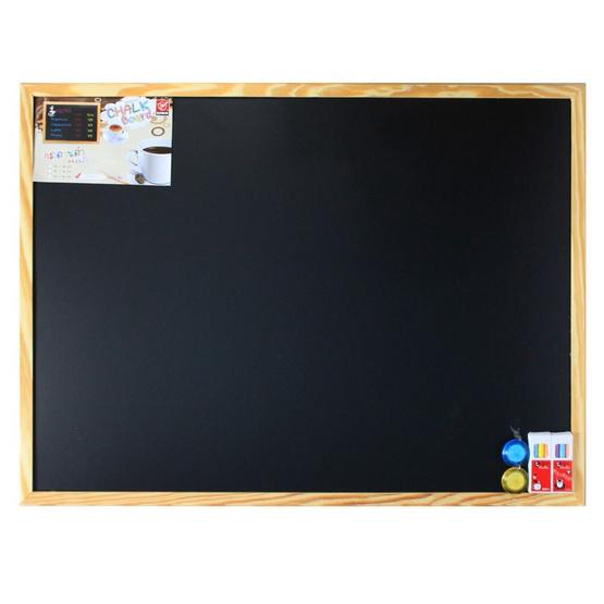 กระดานดำแม่เหล็ก ขอบไม้ (ขนาด 60x80 ซม.)