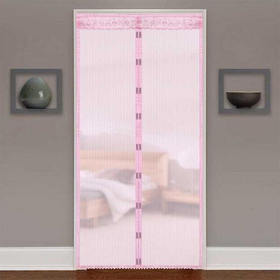 ม่านประตูกันยุงและแมลง ขนาด 90 X 210 ซม./สีชมพู