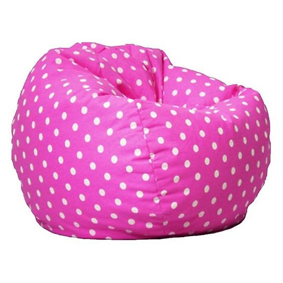 เก้าอี้ Bean Bag ทรงกลมผ้าแคนวาส ลายจุด