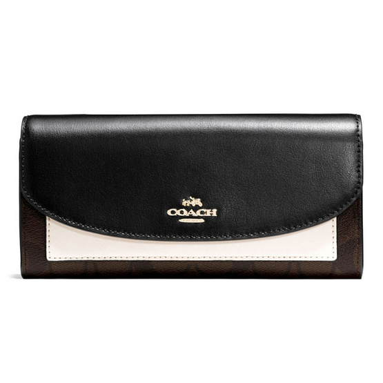 ซื้อ กระเป๋าสตางค์ COACH F56494 SLIM ENVELOPE WALLET IN COLORBLOCK SIGNATURE (IMLLC)