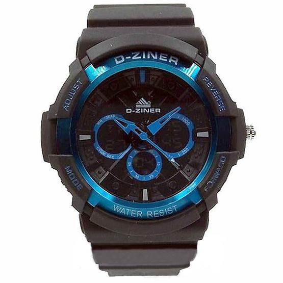 นาฬิกา Dziner รุ่น DZ-8019 ดำ/ฟ้า