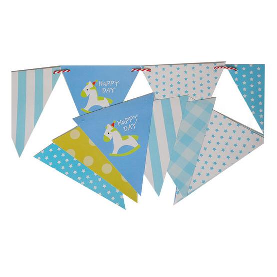 ธงกระดาษสามเหลี่ยมลาย Happy Day