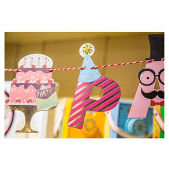 ธงกระดาษลาย Happy PartyFlagHPT