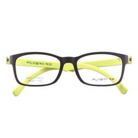 แว่นตา PLASTA+เลนส์ตัดแสง P1 BK/LIGHT GR แถมฟรี เลนส์ตัดแสง HOYA