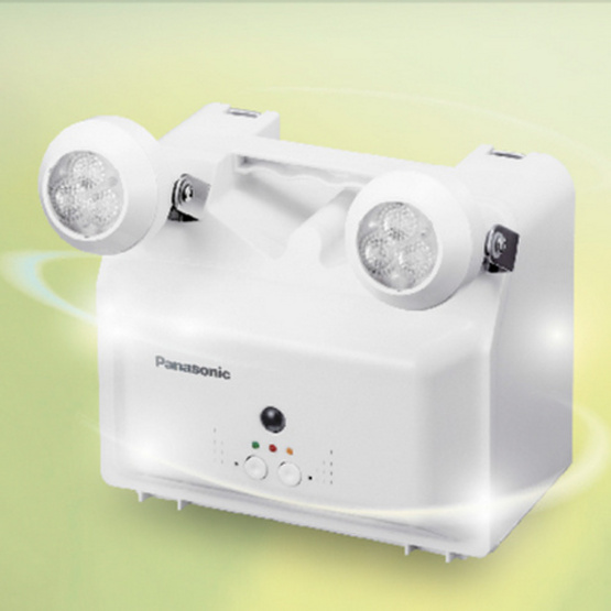 ไฟฉุกเฉิน Panasonic LED 2หลอด/6W รุ่น LDR400N สีขาว