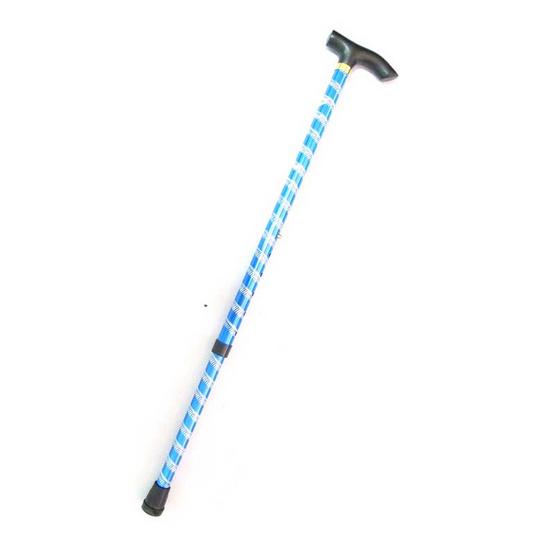 a bloom ไม้เท้าอลูมิเนียมอัลลอยด์ ดีไซน์ลายเส้นสีแวว สีน้ำเงิน