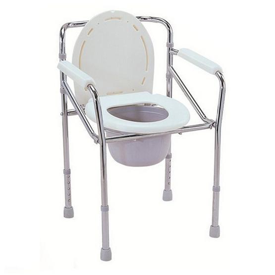 a bloom เก้าอี้นั่งถ่าย เหล็กชุบ ปรับระดับได้ สีขาว