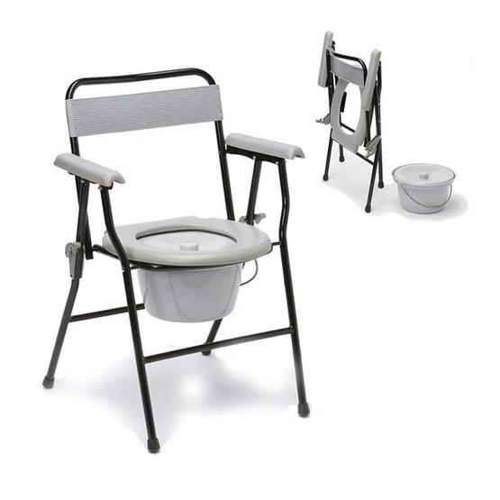 a bloom เก้าอี้นั่งถ่าย พับได้ พร้อมพนักพิง