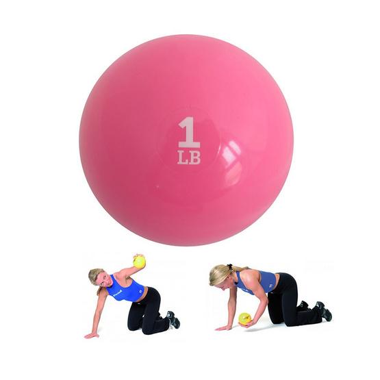 a bloom ลูกบอลทรายออกกำลังกาย น้ำหนัก 1 LB (ปอนด์) สีชมพู