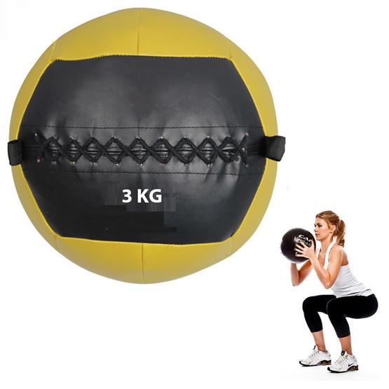 a bloom ลูกบอลน้ำหนัก วอลล์บอล น้ำหนัก 3 กก. สีดำ/เหลือง