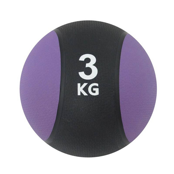 a bloom ลูกบอลน้ำหนัก ออกกำลังกาย น้ำหนัก 3 กก. สีม่วง (Medicine Ball)