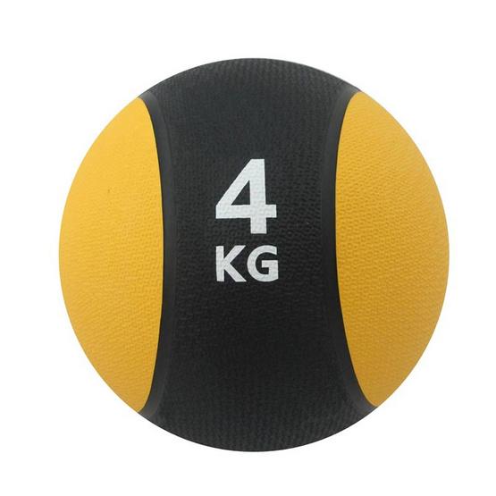 a bloom ลูกบอลน้ำหนัก ออกกำลังกาย น้ำหนัก 4 กก. สีเหลือง (Medicine Ball)