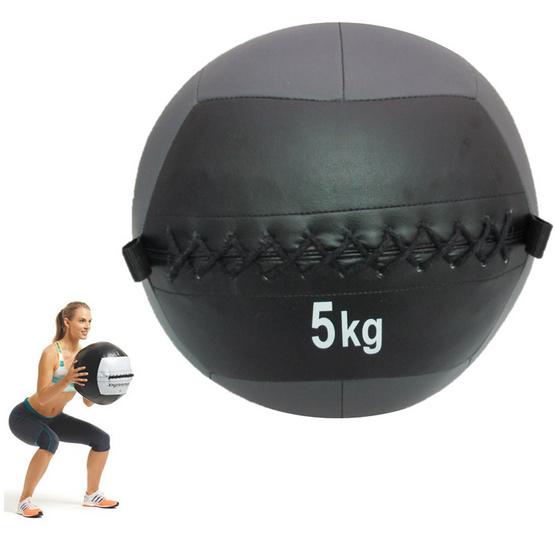 a bloom ลูกบอลน้ำหนัก วอลล์บอล น้ำหนัก 5 กก. สีดำ/เทา