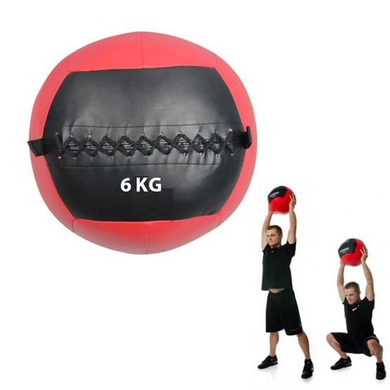 a bloom ลูกบอลน้ำหนัก วอลล์บอล น้ำหนัก 6 กก. สีดำ/แดง