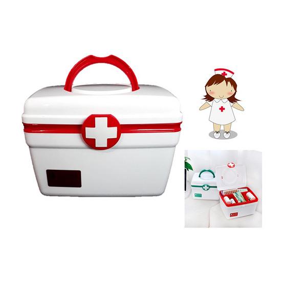 a bloom First Aid Kit Box กล่องยา 2 ชั้น สำหรับปฐมพยาบาล size L