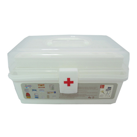 a bloom First Aid Kit Box กล่องยา 3 ชั้น สำหรับปฐมพยาบาล สีขาว