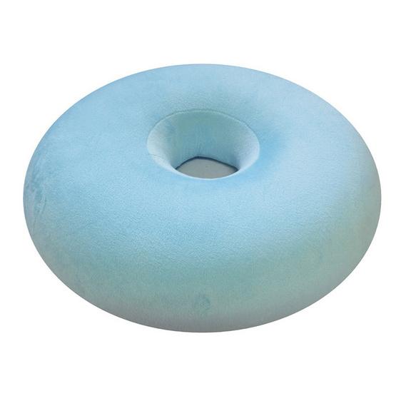 a bloom หมอนโดนัท เมมโมรี่โฟม รองก้น กันแผลกดทับ สีฟ้า (Memory Foam Donut Pillow-Blue)