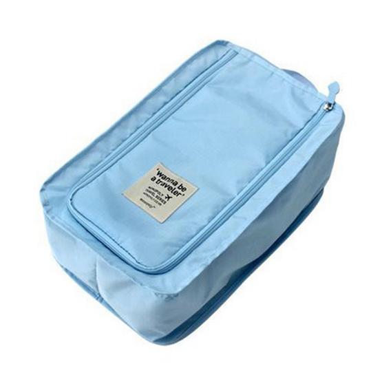 bags in bag กระเป๋าใส่รองเท้า รุ่น BB03 สีฟ้า