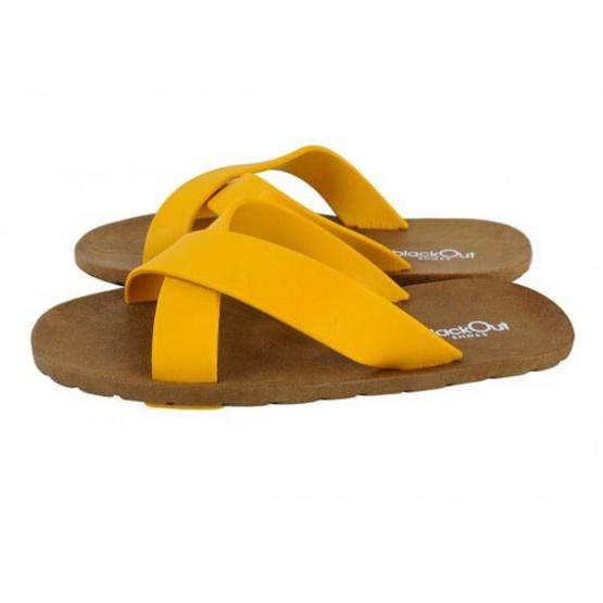blackOut รองเท้าแตะ รุ่น BO-1001 สีเหลือง