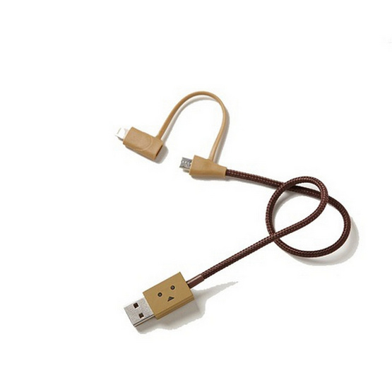 cheero สาย Cable รุ่น DANBOARD USB Cable with Lightning & Micro USB (CHE-224) (ความยาวของสาย 25 CM)