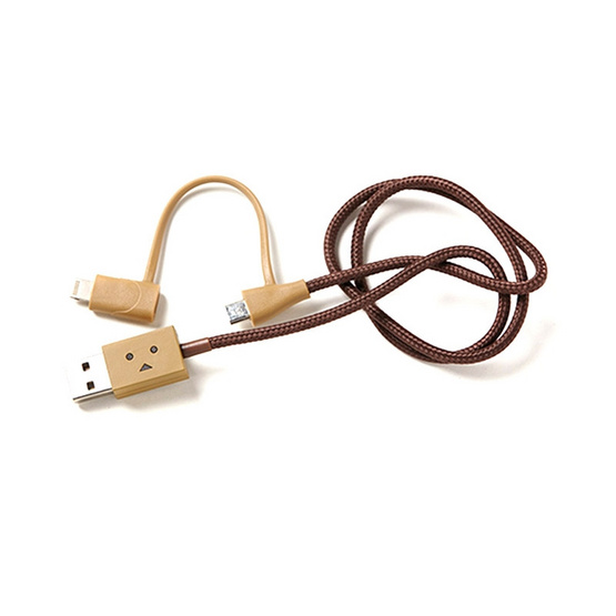cheero สาย Cable รุ่น DANBOARD USB Cable with Lightning & Micro USB (CHE-225) (ความยาวของสาย 50CM)