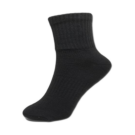 esocks ถุงเท้าคอมสีดำ(เสริมพื้นหนาพิเศษ) รุ่น e030 freesize สีดำ (6คู่/เซ็ท)