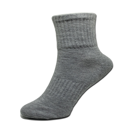 esocks ถุงเท้าคอมสีเทา(เสริมพื้นหนาพิเศษ) รุ่น e031 freesize สีเทา (6คู่/เซ็ท)