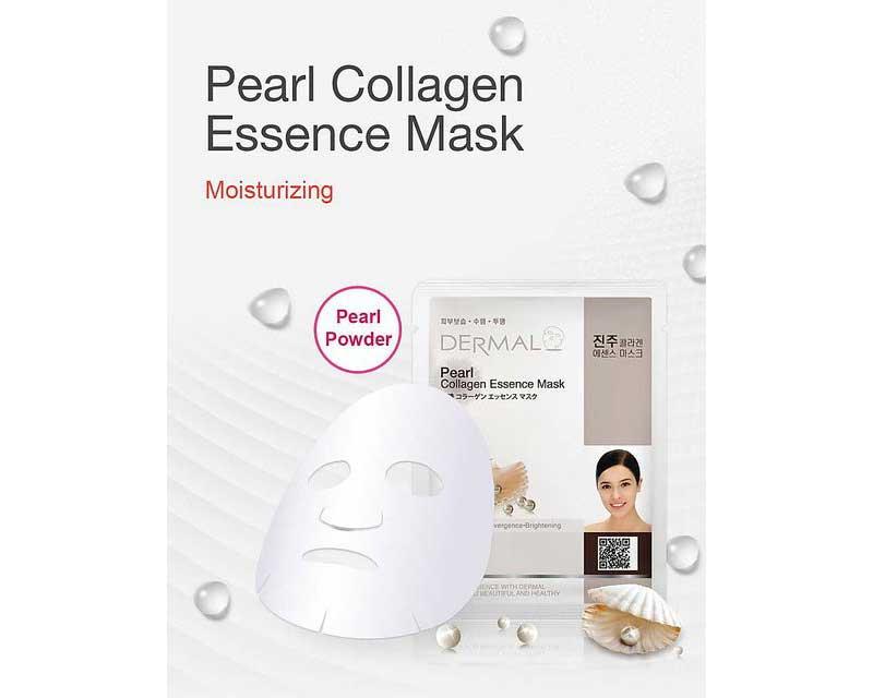 01 Dermal แผ่นมาส์กหน้า Pearl collagen essence mask 23 กรัม (3 แผ่น)
