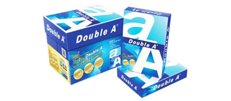 DOUBLE A กระดาษ A4 80 แกรม 500 แผ่น/รีม (5 รีม/กล่อง) 02