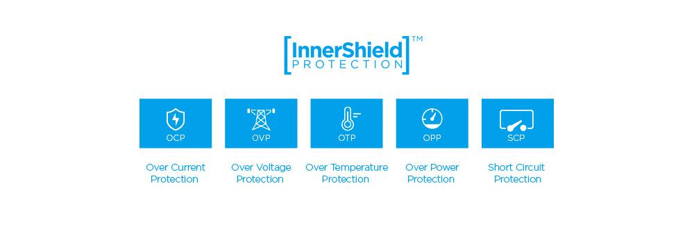5 ระบบป้องกันอันตรายจากไฟฟ้าในตัวเครื่อง InnerShield™