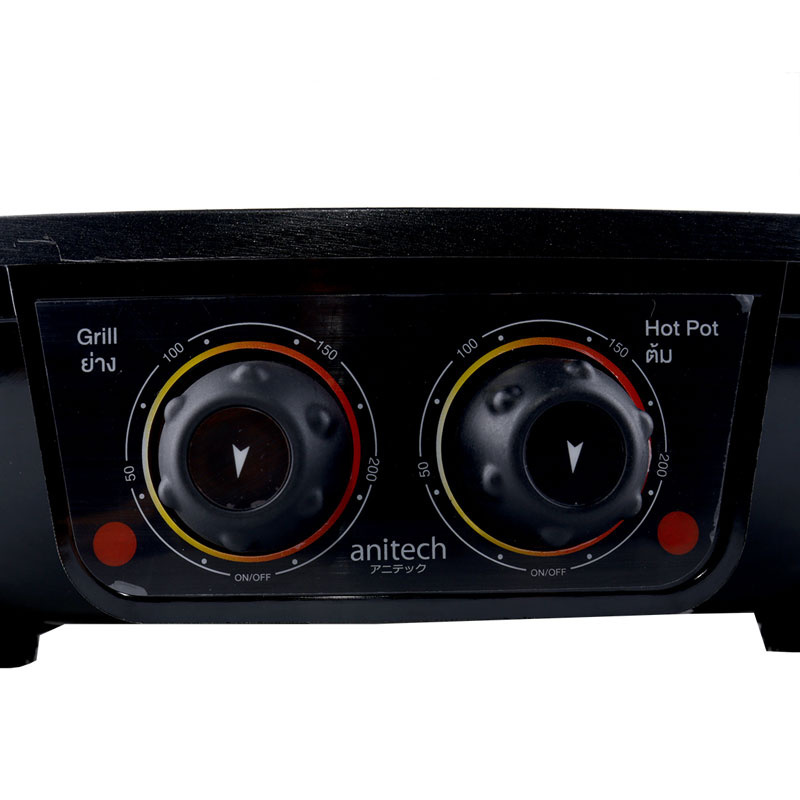 Anitech เตาย่างไฟฟ้า พร้อมหม้อต้ม (ทรงสี่เหลี่ยม) รุ่น BBQ-05S
