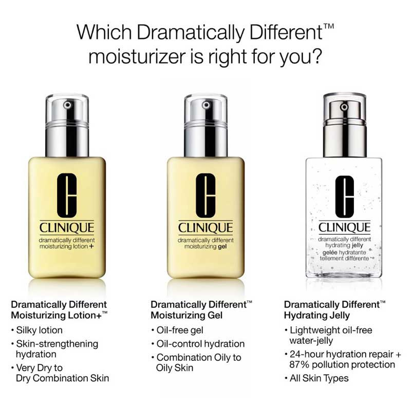 02 Clinique Dramatically Different Moisturizing Gel #For Oily Skin 125 ml