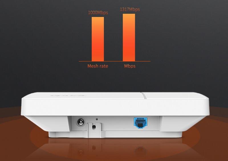 tenda ac1200 gigabit dual band ceiling access point