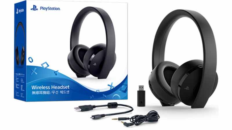 Playstation Gold Wireless Headset (US) 04