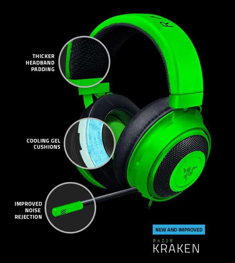 Razer Gaming Headset Kraken X Multi-Platform 06