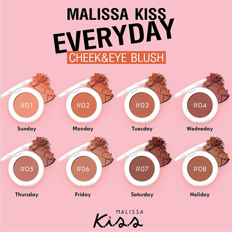 02 Malissa Kiss บลัชออน Everyday Cheek & Eye