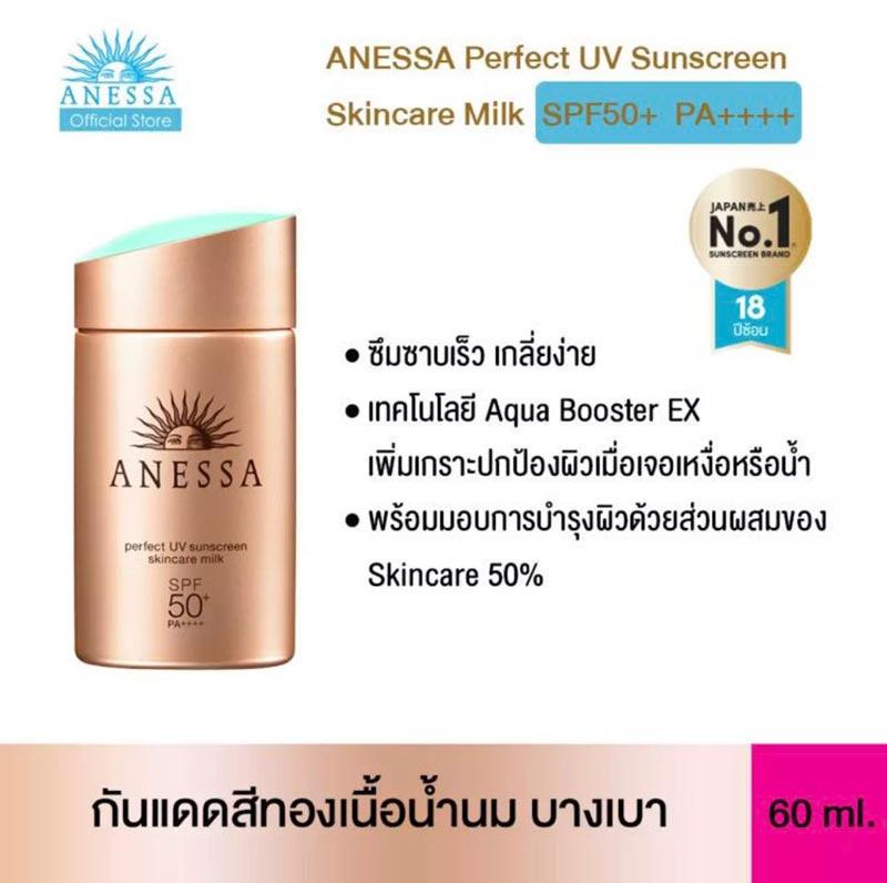 02 Anessa ครีมกันแดด Perfect UV Sunscreen Milk 20 มล.