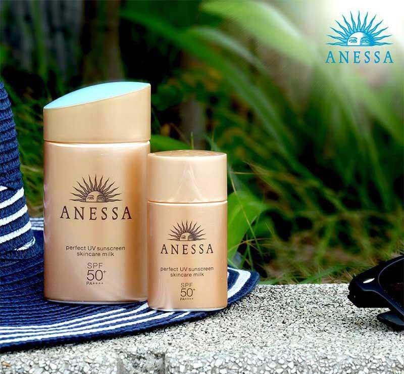 04 Anessa ครีมกันแดด Perfect UV Sunscreen Milk 20 มล.