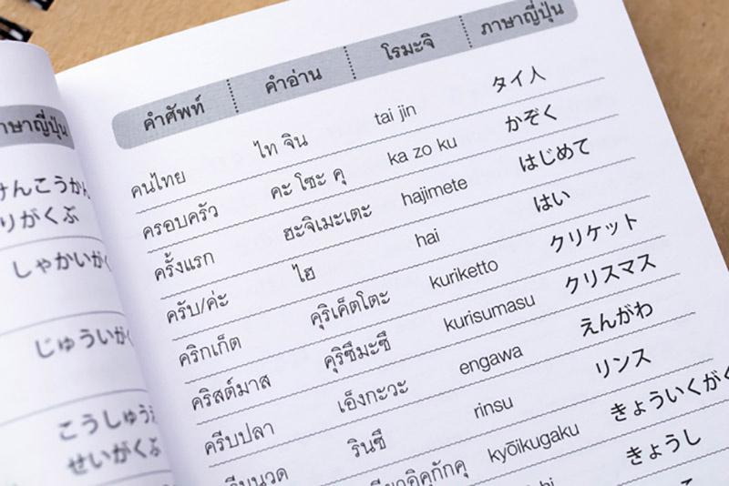 พจนานุกรมไทย - ญี่ปุ่น สำหรับการใช้ในชีวิตประจำวัน 08
