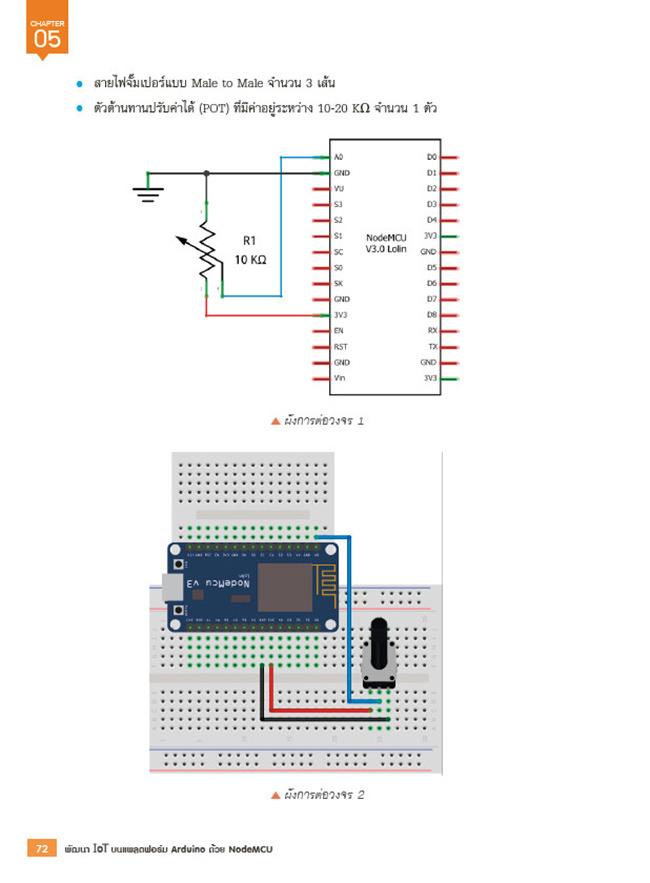 หนังสือ พัฒนา IOT บนแพลตฟอร์ม Arduino ด้วย NodeMCU 03