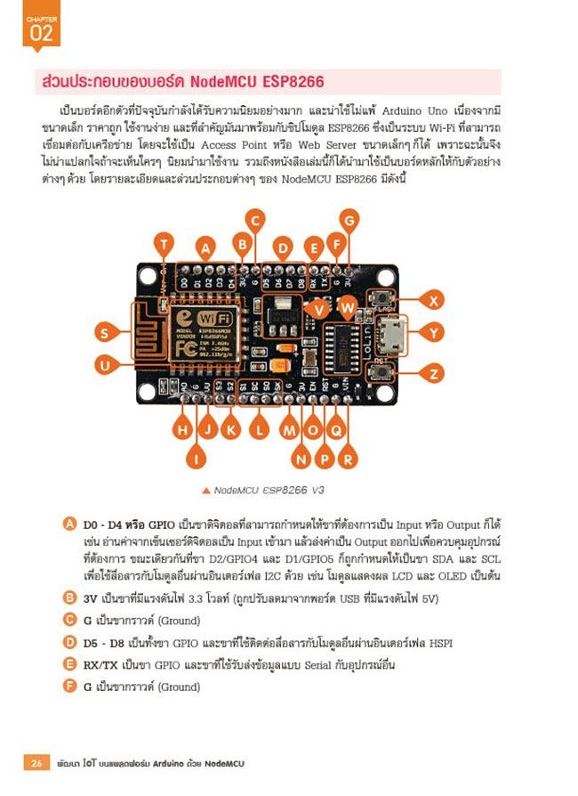 หนังสือ พัฒนา IOT บนแพลตฟอร์ม Arduino ด้วย NodeMCU 11