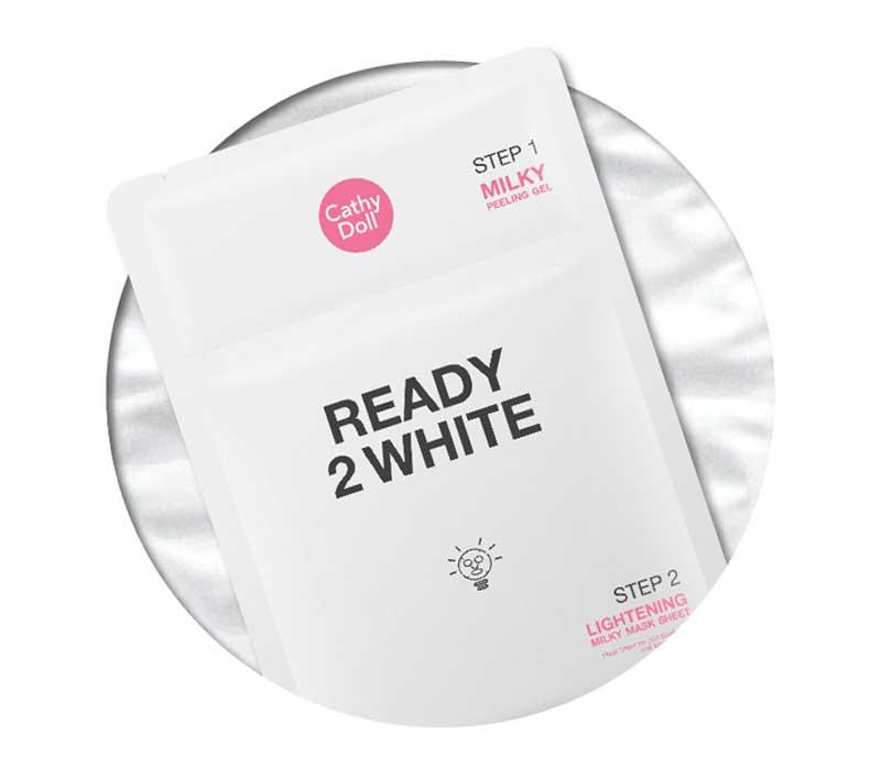 01 Cathy Doll มาส์กแผ่น Ready 2 White Lightening Milky 3.5 มล. + 25 กรัม