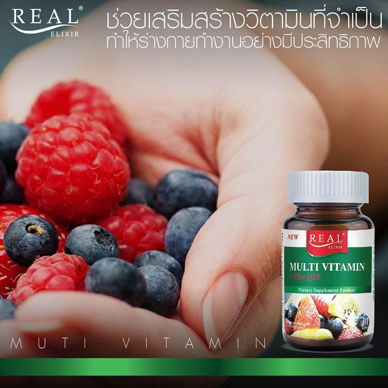 Real Elixir Multi vitamin+PlusQ10 30 Tabs