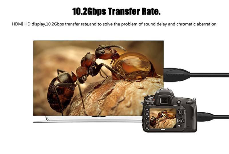 Vention Micro HDMI To HDMI Cable 2 M.