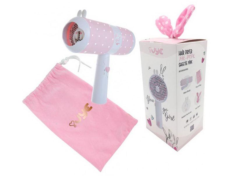 01 JYE ไดร์เป่าผมพกพา รุ่น Popk 1000W #Sweetie Pink (A5260)