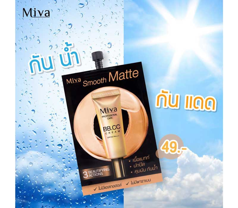 01 Miva Smooth Matte BB&CC Cream SPF 35 PA+++ 7 g x6