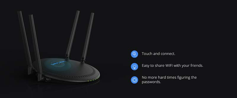 Wavlnik รุ่น WN531G3 QUANTUM D4G AC1200 Dual-band Smart Wi-Fi Router with Touchlink and Giga LAN