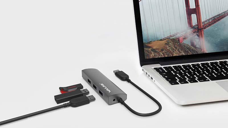 Wavlink รุ่น WL-UH3031G USB 3.0 4-Port Hub with Gigabit Ethernet
