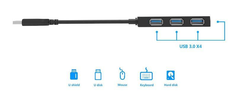 Wavlink รุ่น WL-UH30412 SuperSpeed USB 3.0 4-Port Hub
