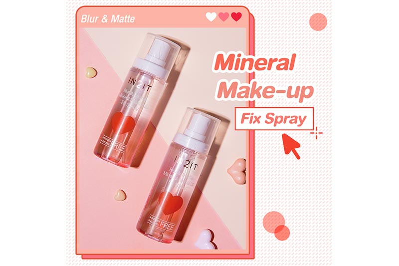 01 IN2IT สเปรย์น้ำแร่ Blur & Matte Mineral Make-up Fix Spray 50 มล.